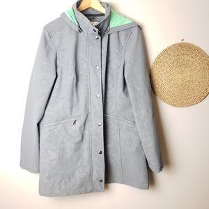Ricki's Grey Patterned Hooded Jacket size XL